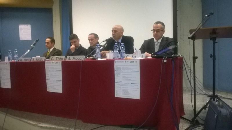 Tavolo relatori seminario Nuoro 29-01-2018