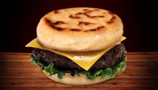 Hambuarepa: arepa estilo hamburguesa