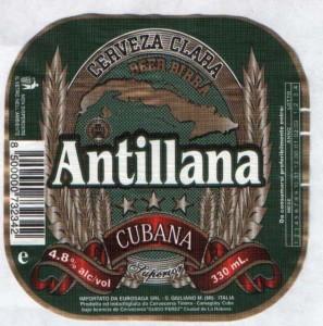 Antillana Cerveza Clara Cubana
