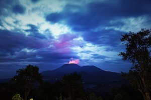 View from Kibumba Tented Camp - Virunga Park - Picture Copyright protected