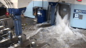 NYC Subway During Hurricane Sandy