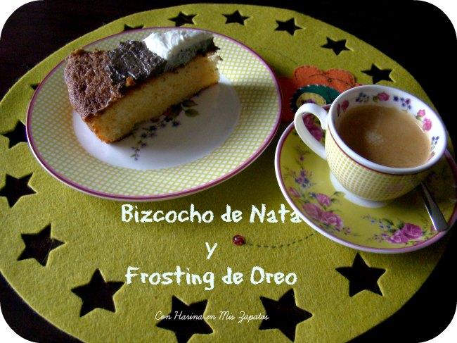 Bizcocho de Nata y Frosting de Oreo