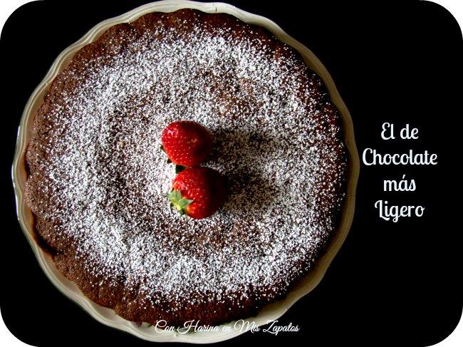 Bizcocho Ligero Con Un Toque de Chocolate