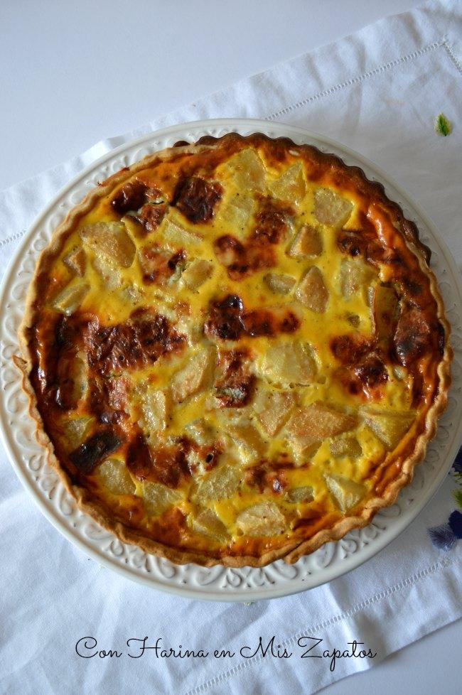 Tarta de Gorgonzola y Peras