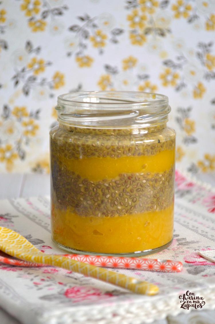 Pudding de Mango y Chía