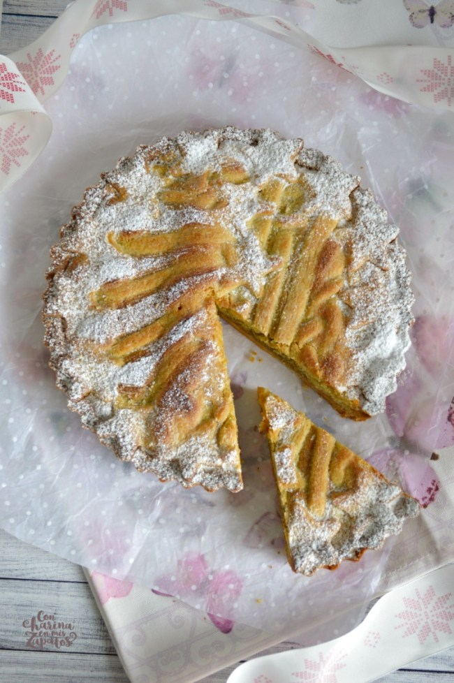Tarta de Almendra y Crema de Pistachos | CON HARINA EN MIS ZAPATOS