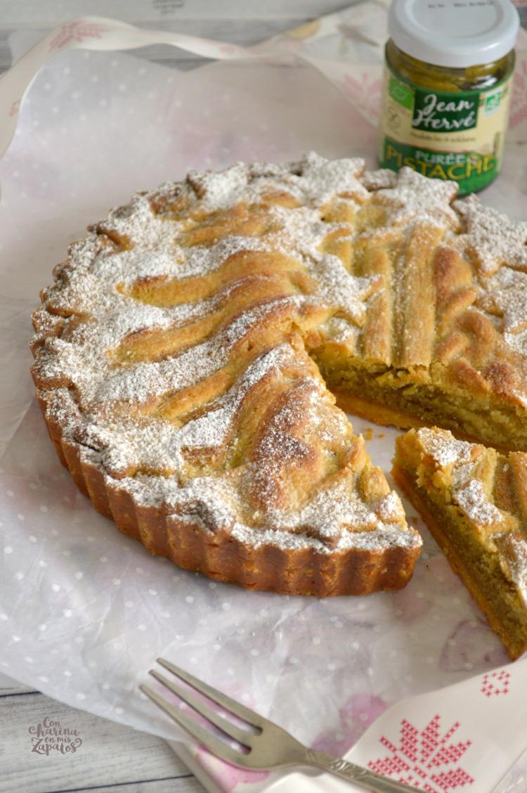 Tarta de Almendra y Crema de Pistachos