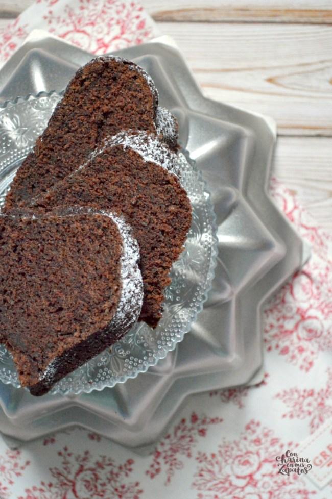 Bundt Cake de Chocolate y Calabacín | CON HARINA EN MIS ZAPATOS