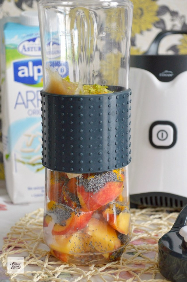 Batido de Nectarina y Zanahoria | CON HARINA EN MIS ZAPATOS