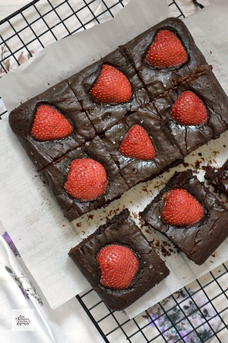Brownie de Chocolate y Fresas