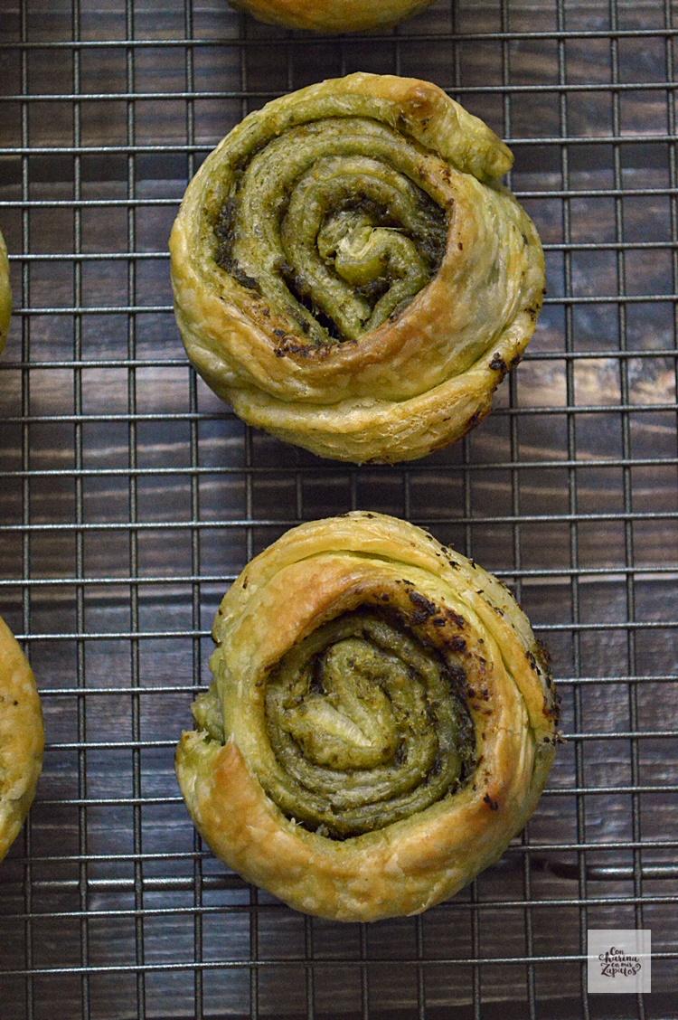 Receta de Espirales de Pesto