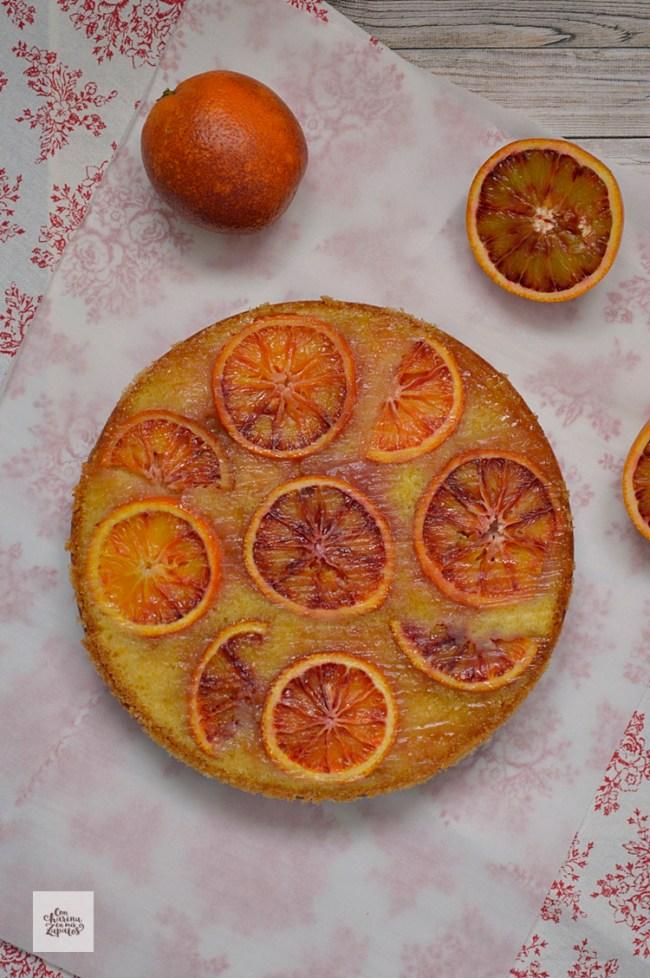 Bizcocho Invertido de Naranja Sanguina | CON HARINA EN MIS ZAPATOS
