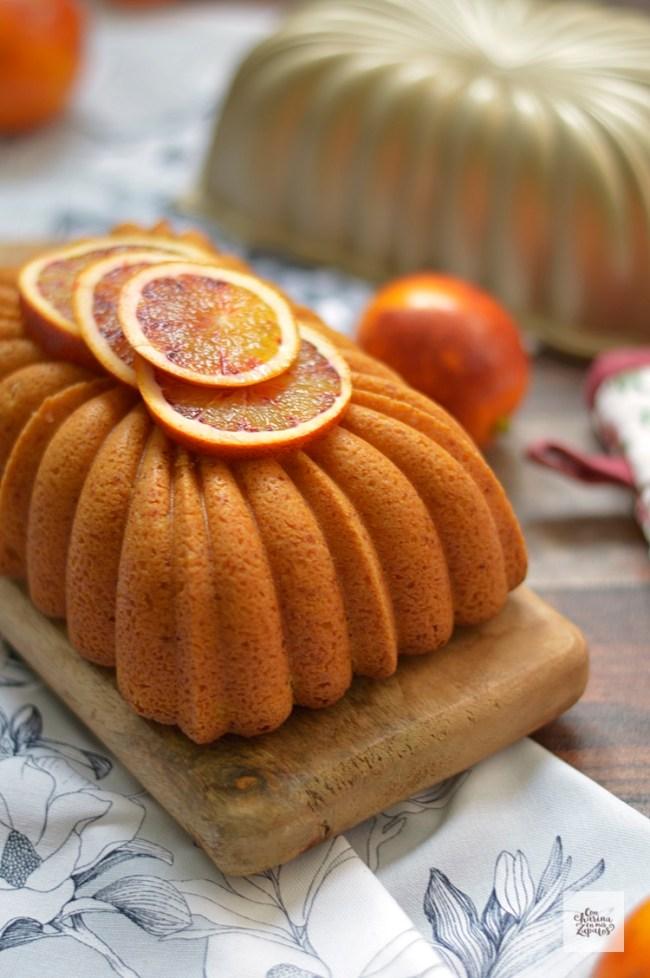 Bizcocho de Almendra, Yogur y Naranja | CON HARINA EN MIS ZAPATOS