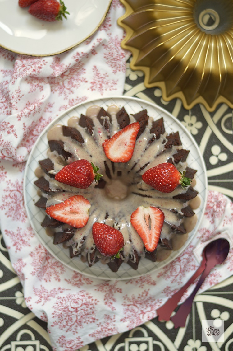 Bundt Cake de Tres Chocolates