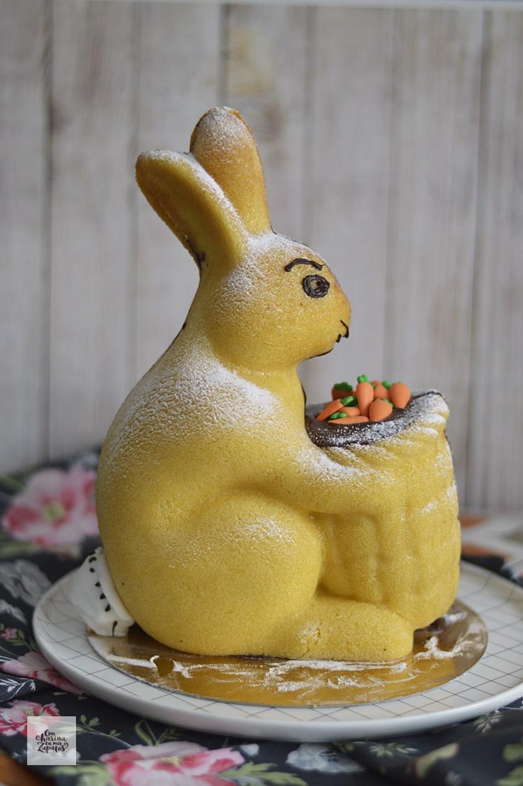 Conejo de Pascua de Bizcocho de Limón