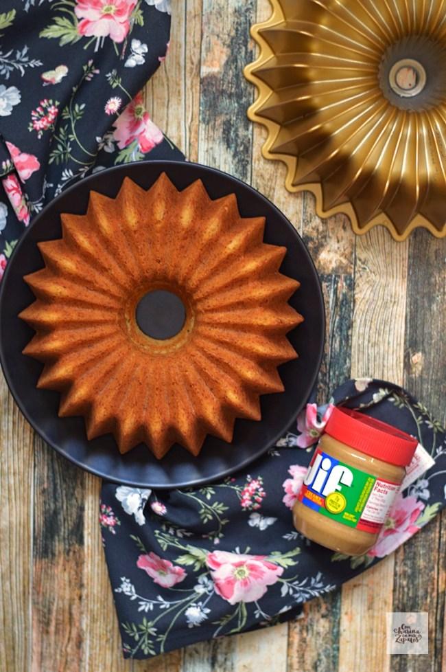 Bundt Cake de Plátano y Mantequilla de Cacahuete | CON HARINA EN MIS ZAPATOS