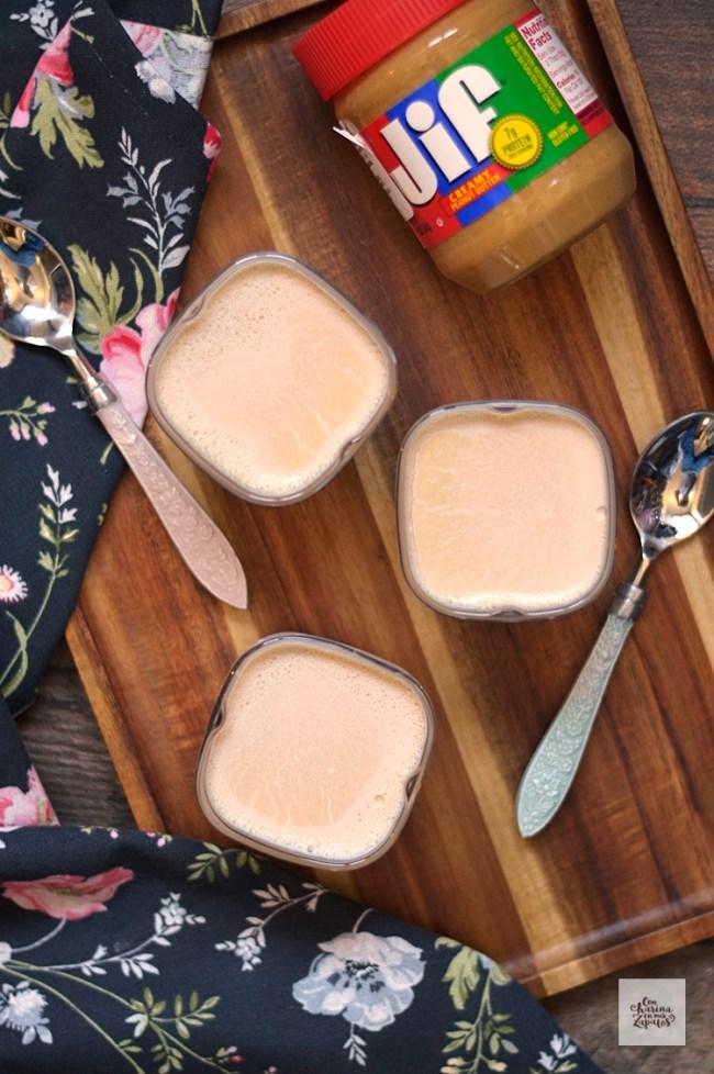 Yogures de Crema de Cacahuete | CON HARINA EN MIS ZAPATOS