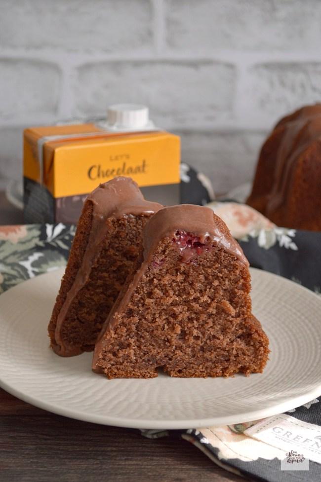 Bundt Cake de Chocolate a la taza   CON HARINA EN MIS ZAPATOS