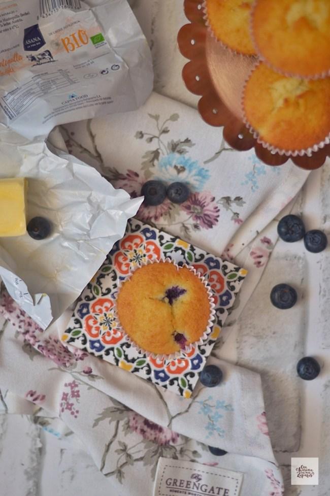 Magdalenas de Arándanos y Limón | CON HARINA EN MIS ZAPATOS