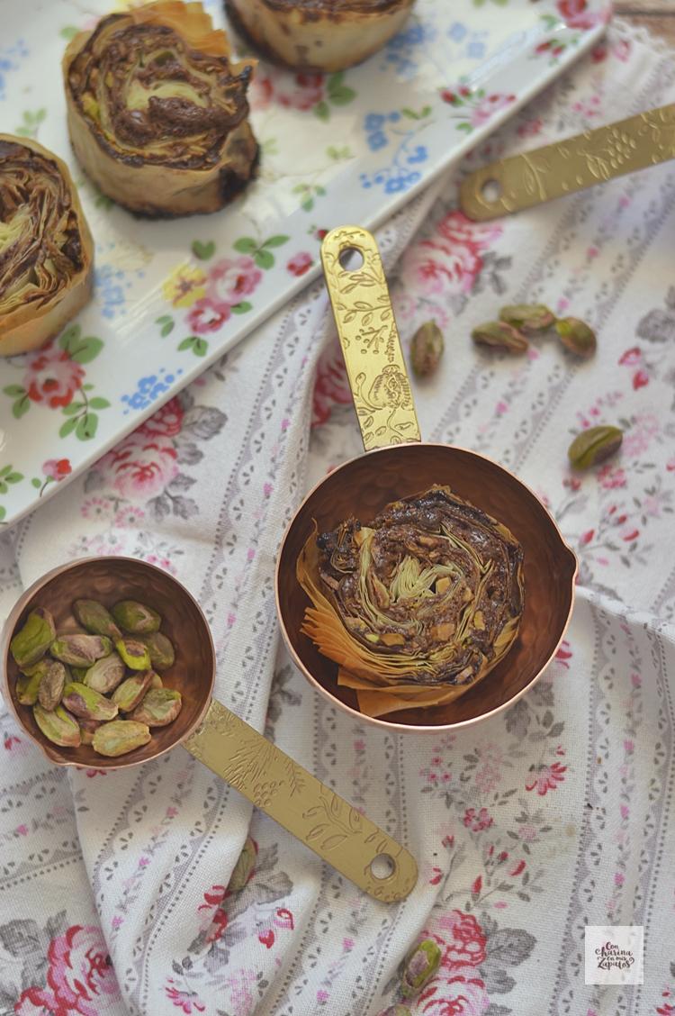 Espirales de Chocolate y Pistacho