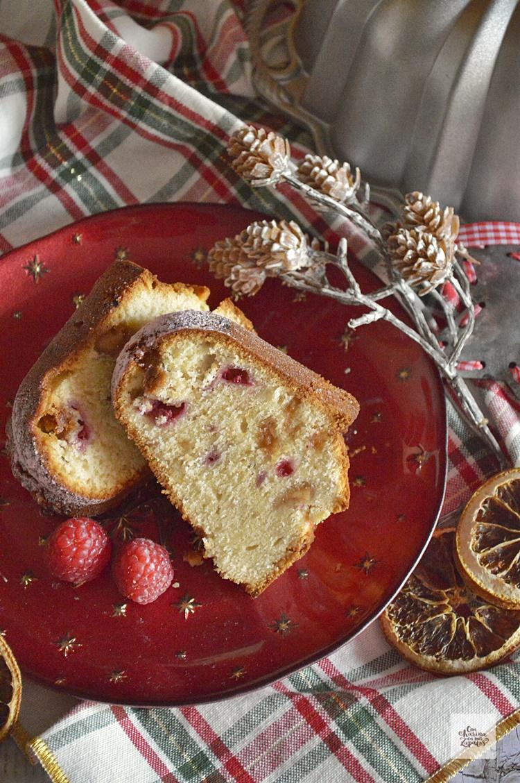 Bundt Cake de Frambuesas y Turrón