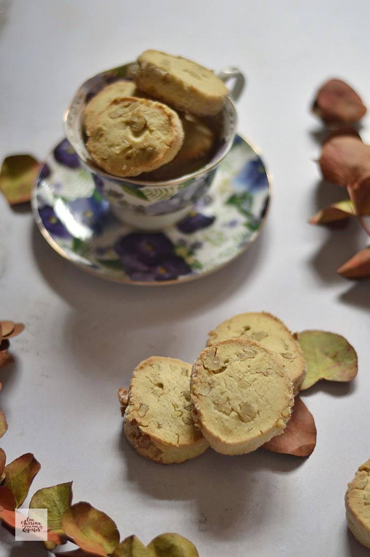 Galletas shortbread de nueces