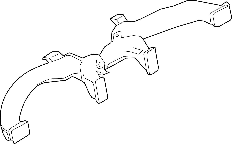 Nissan Titan Instrument Panel Air Duct. NOZZLE, HVAC