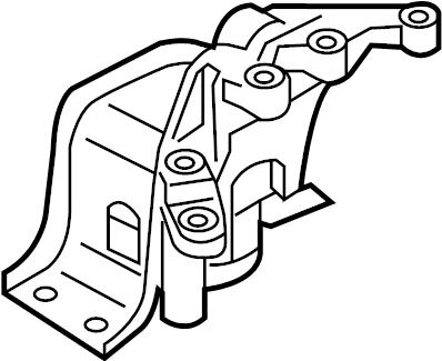 Nissan Juke Engine Mount (Right). MOUNTING, TRANSMISSION