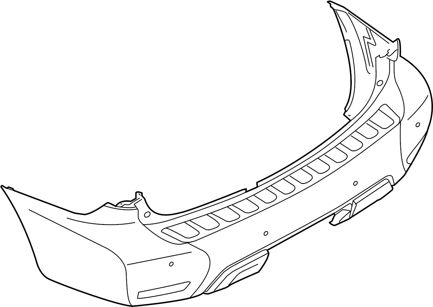 Nissan Armada Bumper Cover Rear Paint