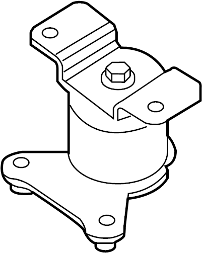 Nissan Xterra Insulator Engine Mounting. (Rear). BED