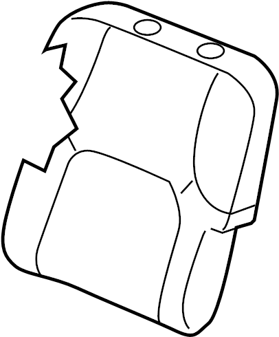 Nissan Xterra Seat Back Cover (Front). MANUAL, FOLD, FLAT