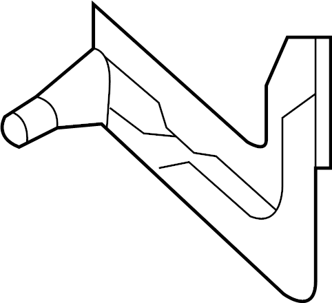 Nissan Pathfinder Mud Flap (Right, Front). DEALER, OPTION