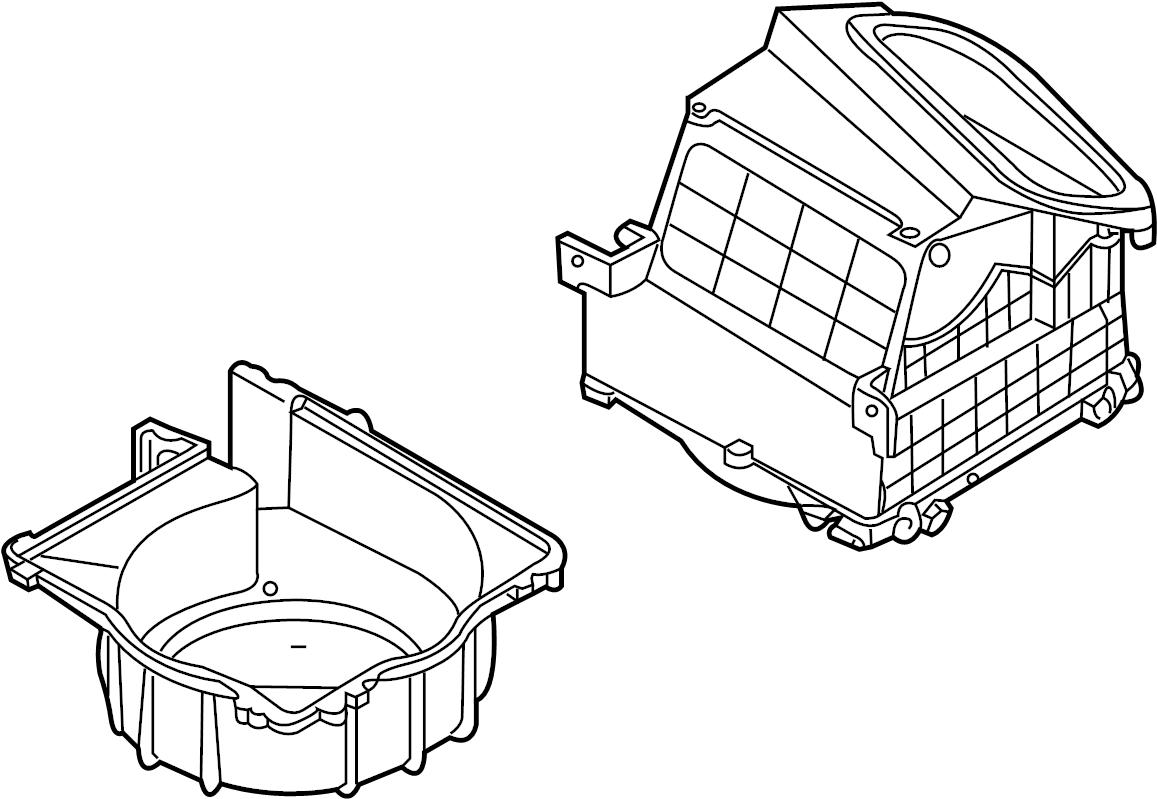 Nissan 370z Hvac Blower Case Front Lower Heater Unit