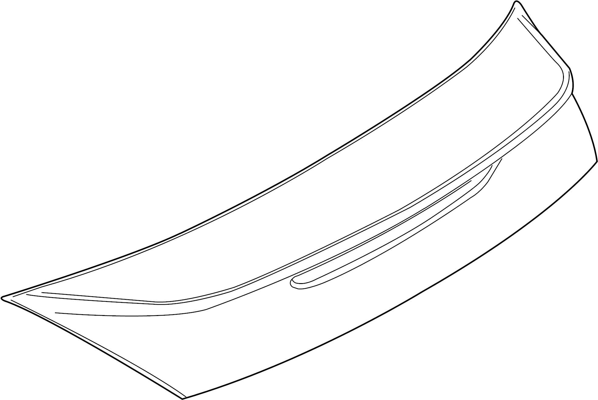 Nissan 370z Spoiler Rear Version