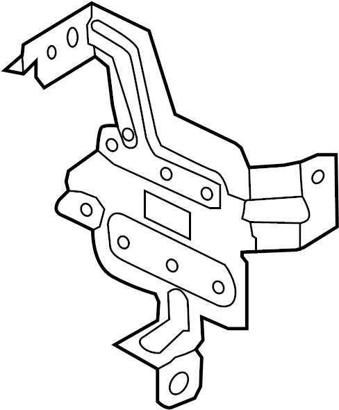 Nissan Quest Bracket Cluster Lid. Bracket Fuse Block