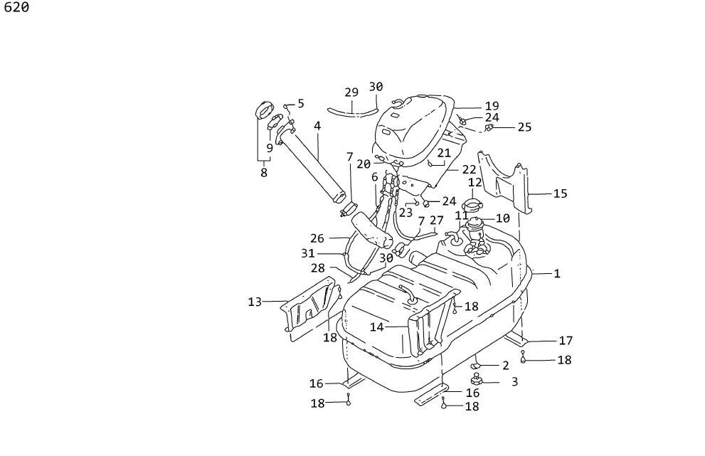 Datsun 510 Gauge Unit Fuel Tank. Plate Lock, Fuel Gauge