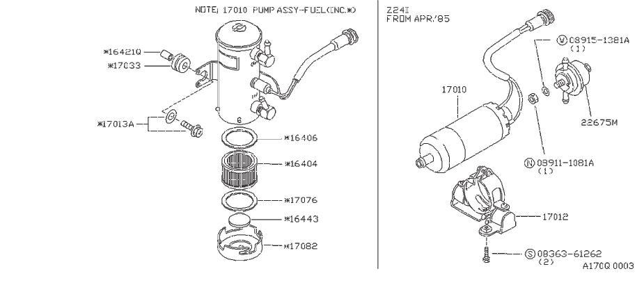 Nissan 720 Element Filter. Filter Pump (For Coo Ler). Fuel