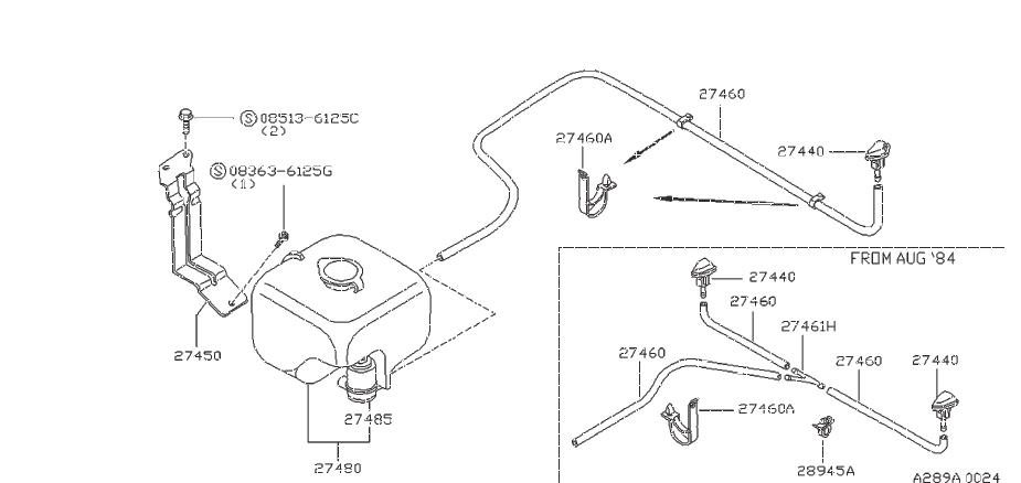 Nissan 300ZX Clip Hose. Clip Wiring Harness. WIPER, BODY