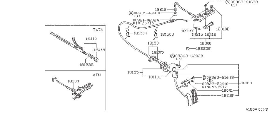 Nissan Maxima Clip Hose. Clip Wiring Harness. VAC, FORA
