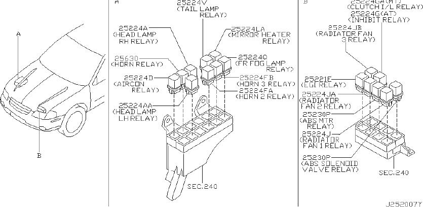 Nissan 300ZX Relay EGI. Relay Ignition. JIDECO, RLY