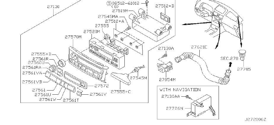 Nissan Maxima Hvac Blower Control Switch. AIR, AUTO