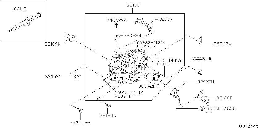 Nissan Maxima Manual Transmission Input Shaft Seal. CLUTCH