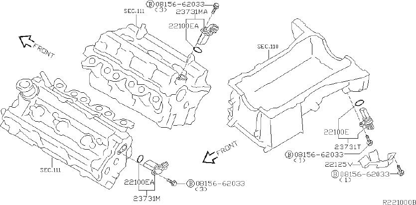 Nissan Maxima Engine Crankshaft Position Sensor