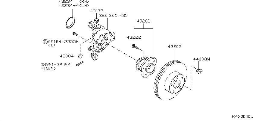 Nissan Maxima Wheel Bearing Dust Cap (Rear). Suspension