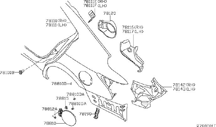 Nissan Maxima Quarter Panel Extension (Right, Rear