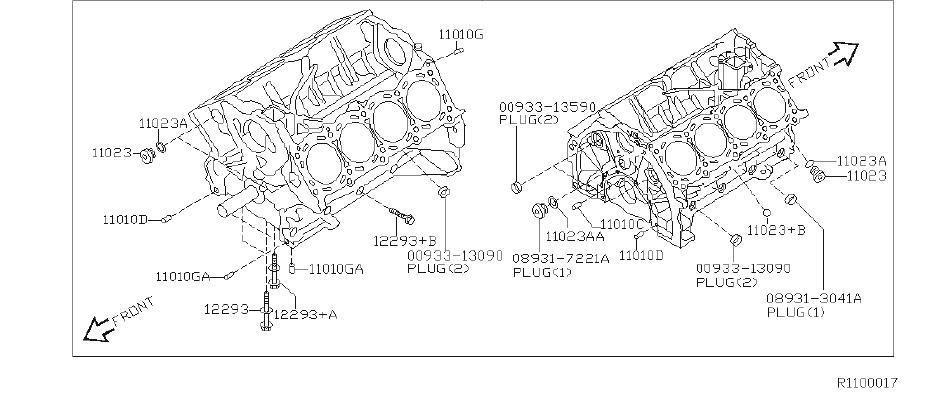 Nissan Titan Engine Crankshaft Main Bearing Cap Bolt