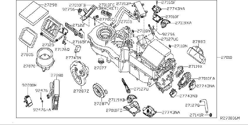 Nissan Titan Hvac blower motor control module (lower
