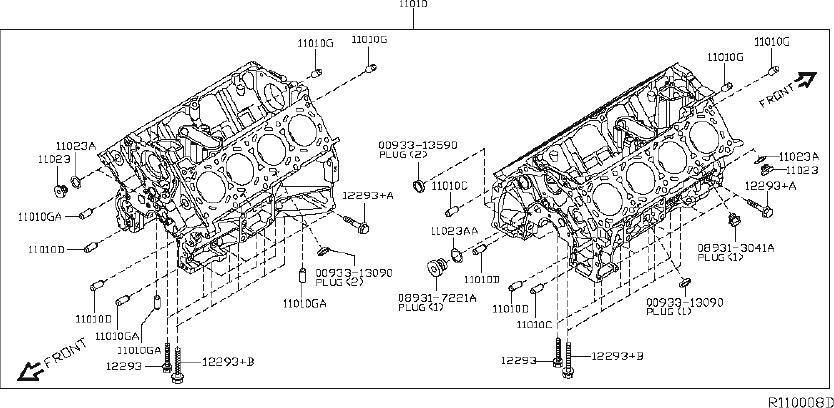 Nissan Titan Engine Oil Pan Gasket. ASSEMBLY, COMPONENT