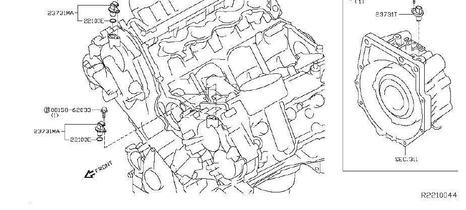 Nissan Titan Engine Camshaft Position Sensor. DISTRIBUTOR