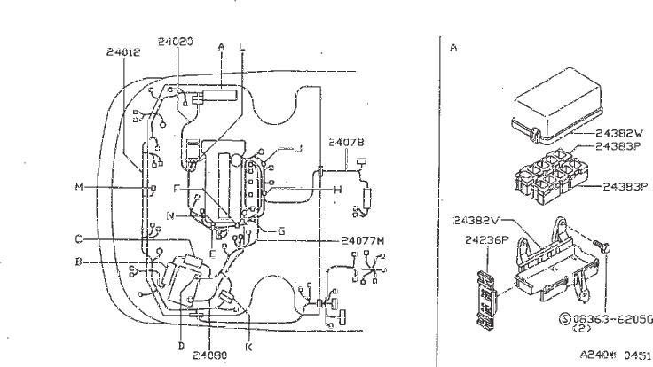 Nissan Sentra Windshield Washer Hose Connector. ROOM